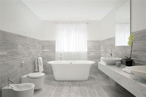 Porcelain Tile Bathroom Ideas by Porcelain Tile With Mixed Look Of Wood And Concrete