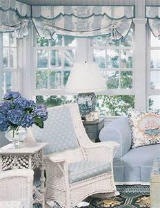 Pretty Soft Blue & White Living Room Pictures, Photos, and ...