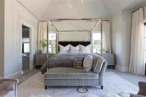 chrome canopy bed chrome canopy bed with black headboard transitional