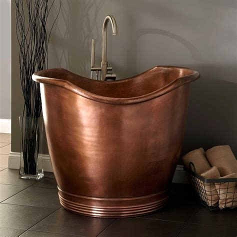 small japanese soaking copper bathtubs turning your bathroom into an antique