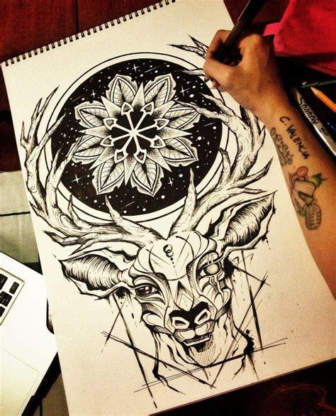 deer mandala  camsy mandalas zentangle drawings