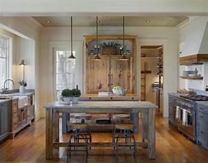 cuisine gris et bois en 50 modeles varies pour tous les With meuble cuisine style campagne 2 cuisine de ferme moderne 25 idees creatives