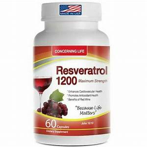 Resveratrol Supplement W Quercetin Grape Seed Extract Green Tea 1200mg 60 Capsul For Sale Online