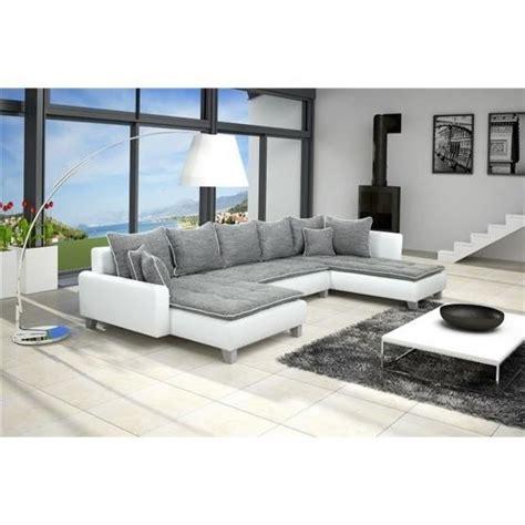 canapé d angle en u canapé d 39 angle en u gris blanc angle droit achat