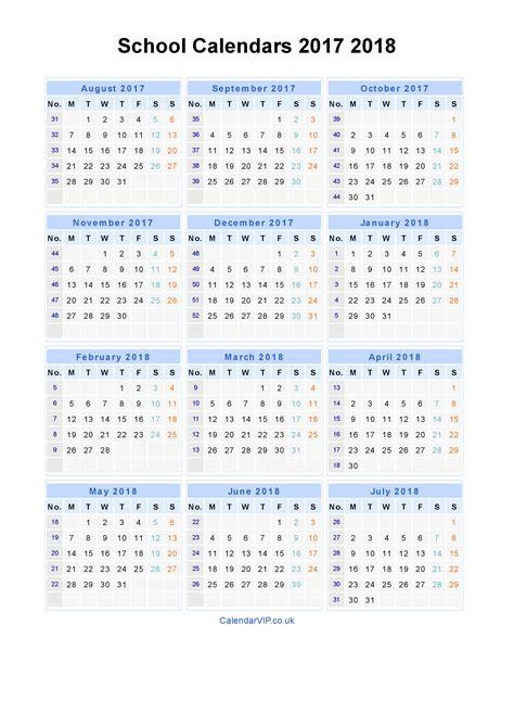 2017 2018 academic calendar template school calendars 2017 2018 calendar from august 2017 to july 2018