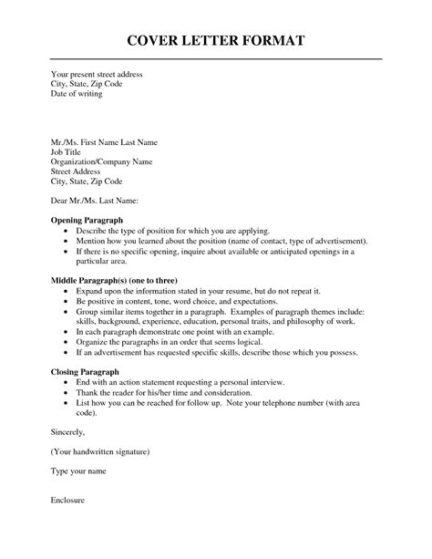 cover letter format resume cv exle template