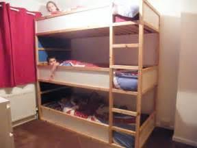 space saving kids triple bunk beds ikea hackers ikea
