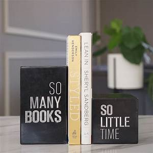 Engraved, Marble, Bookend, Set