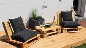 Salon De Jardin Bambou : salon de jardin en palette une solution colo offrant de ~ Teatrodelosmanantiales.com Idées de Décoration