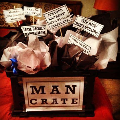 birthday gift   husband gift basket  guys aka