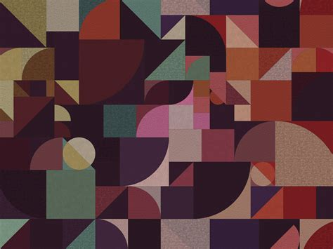 geometric outdoor wallpaper bauhaus  walldeco design