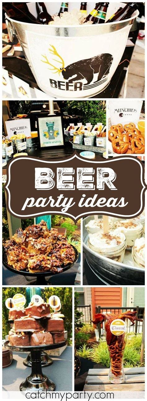 ideas  beer party decorations  pinterest