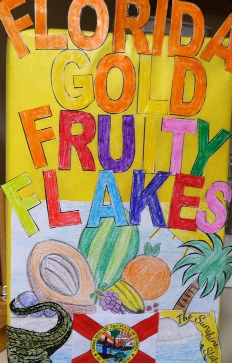 states cereal box history project florida history