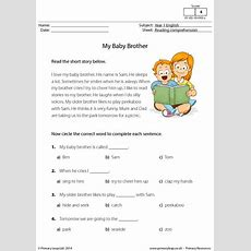Reading Comprehension  My Baby Brother Primaryleapcouk