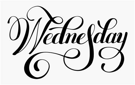 Wednesday Lettering Free Transparent Clipart Clipartkey