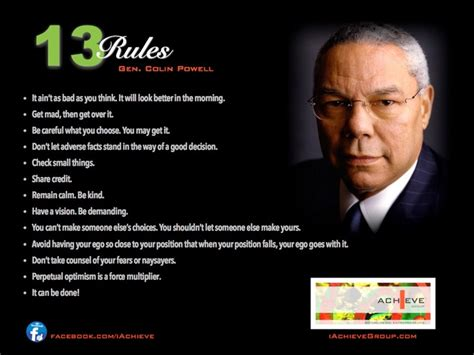 rules  success  gen colin powell quotes