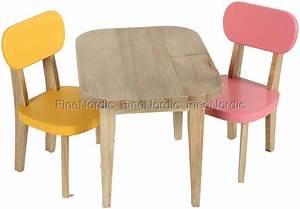 Stühle Für Holztisch : maileg kaninchen holztisch mit 2 st hle gelb und rosa ~ Markanthonyermac.com Haus und Dekorationen