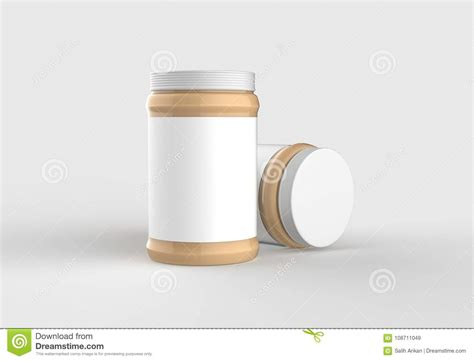 Download peanut butter jar stock vectors. Peanut Butter In Jar Mock Up Isolated On Soft Gray ...