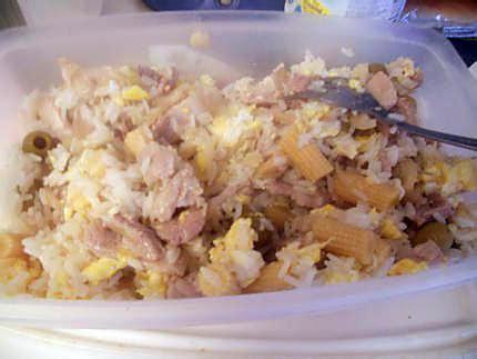 cuisine avec les restes recette de riz reste du frigo