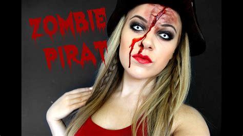 zombie pirat makeup  horroktober youtube