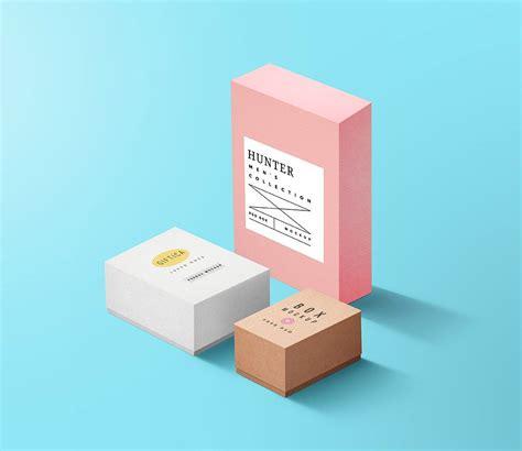 Free Set Boxes Mockup | Box mockup, Free business card ...