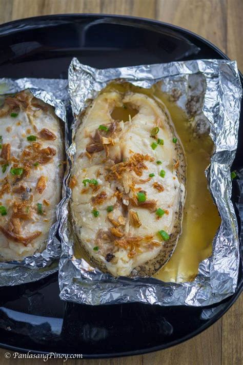 grouper steak foil grilled packet recipe packets oven garlic toasted serving before panlasangpinoy fish
