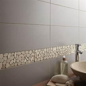 carrelage salle de bain mural loft en faience gris gris n With carrelage gris salle de bain