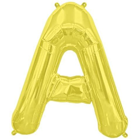 gold mylar letter balloons gold mylar a letter balloon 16 1 ct zurchers