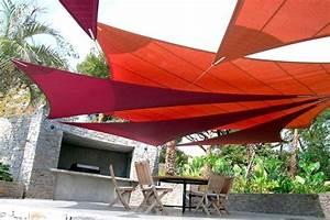 Toile Tendue Jardin : toile tendue pour terrasse poteau pour voile d ombrage ~ Melissatoandfro.com Idées de Décoration