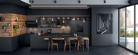 meuble bas pour cuisine cuisine moderne îlot type loft ambiance black mobalpa