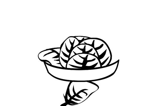 salad clipart black and white lettuce clipart black and white clipart panda free