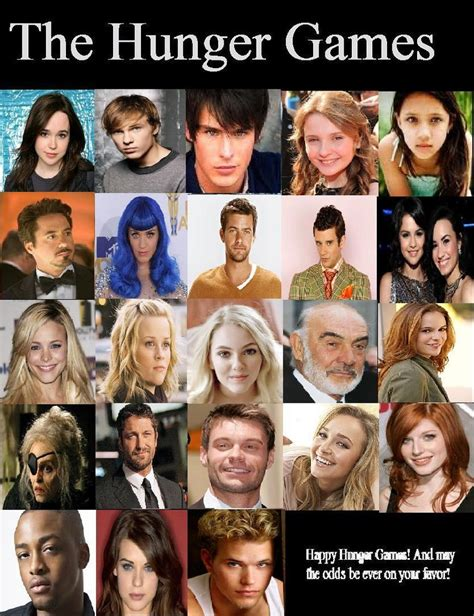 what are the names of the hunger hunger games cast for book 1 by adorkablexbabyxwhale on deviantart