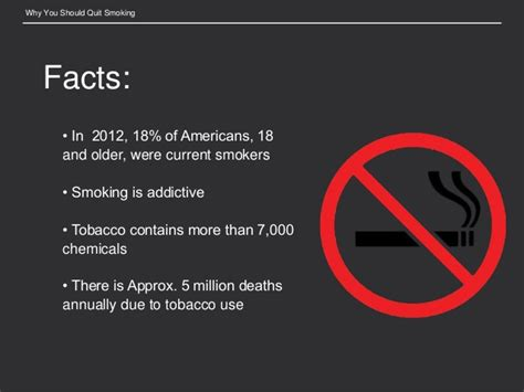 Why You Should Quit Smoking