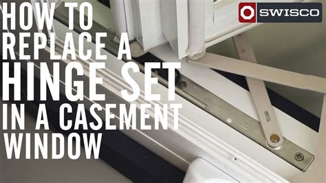 replace  hinge set   casement window p youtube