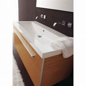 ensemble meuble sous vasque 120 cm finition teck et plan With meuble salle de bain 120 cm sans vasque