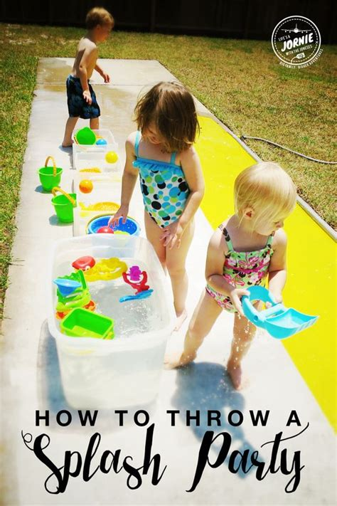 How To Throw A Summer Backyard - how to throw a splash toys summer and buckets