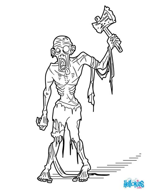 Gizmo Kleurplaat by Bewitched Living Dead Coloring Pages Hellokids