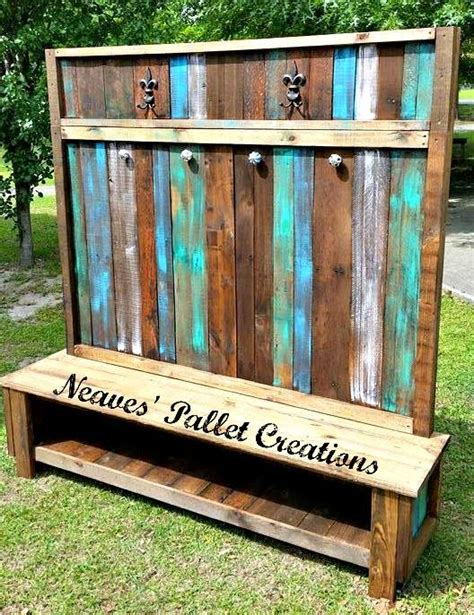 Wooden Pallets Made Customized Hall Tree   Pallet Ideas: Recycled / Upcycled Pallets Furniture