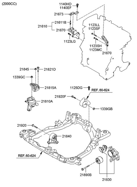 2010 Hyundai Santum Fe Engine Diagram by 2 4l Rubber Engine Mount Bracket For Right Hyundai Santa