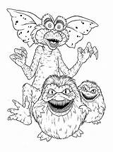 Gremlins Coloring Monster Comments Monsters sketch template