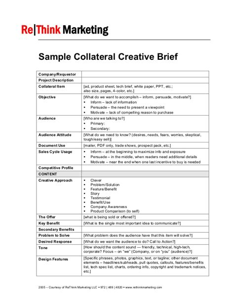 creative brief template примеры брифов sle collateral creative brief