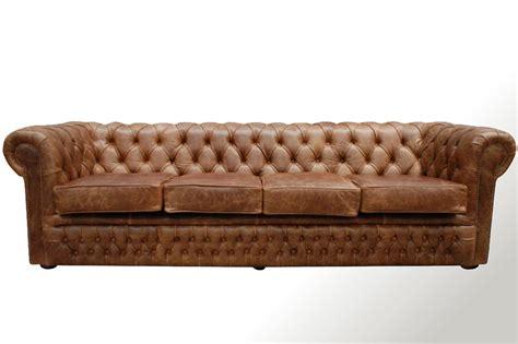sofa con respaldo sinonimo sof 225 chesterfield 4 cuerpos en cuero vacuno gastado