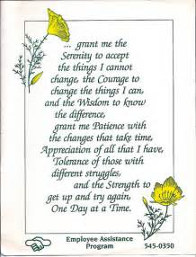 Serenity Prayer and Patience