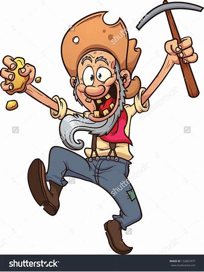 Clipart Gold Miners Digger Cartoon Miner Clipground