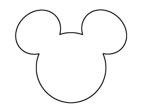 mickey mouse template mickey mouse silhouette