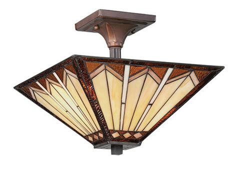 patriot lighting 174 craftsman 14 quot russet 2 light semi flush