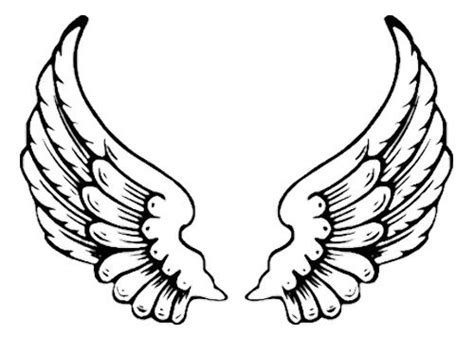 eagle wing tattoo coloring pages angel wings clip art angel coloring pages angel wings tattoo