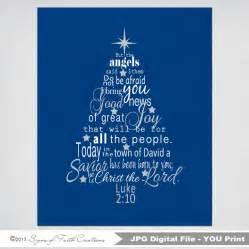 luke 2 bible verse christmas tree subway art instant