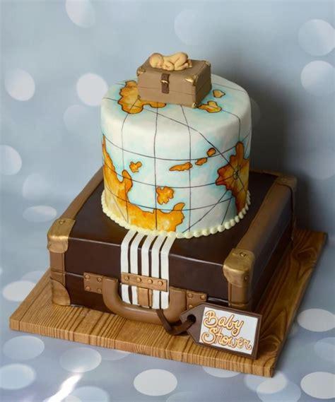 vintage travel baby shower cake  jamie cupcakes