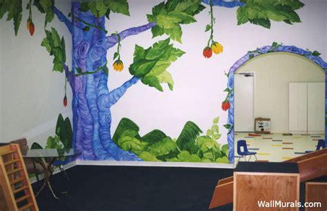 jungle wall murals examples  jungle theme murals